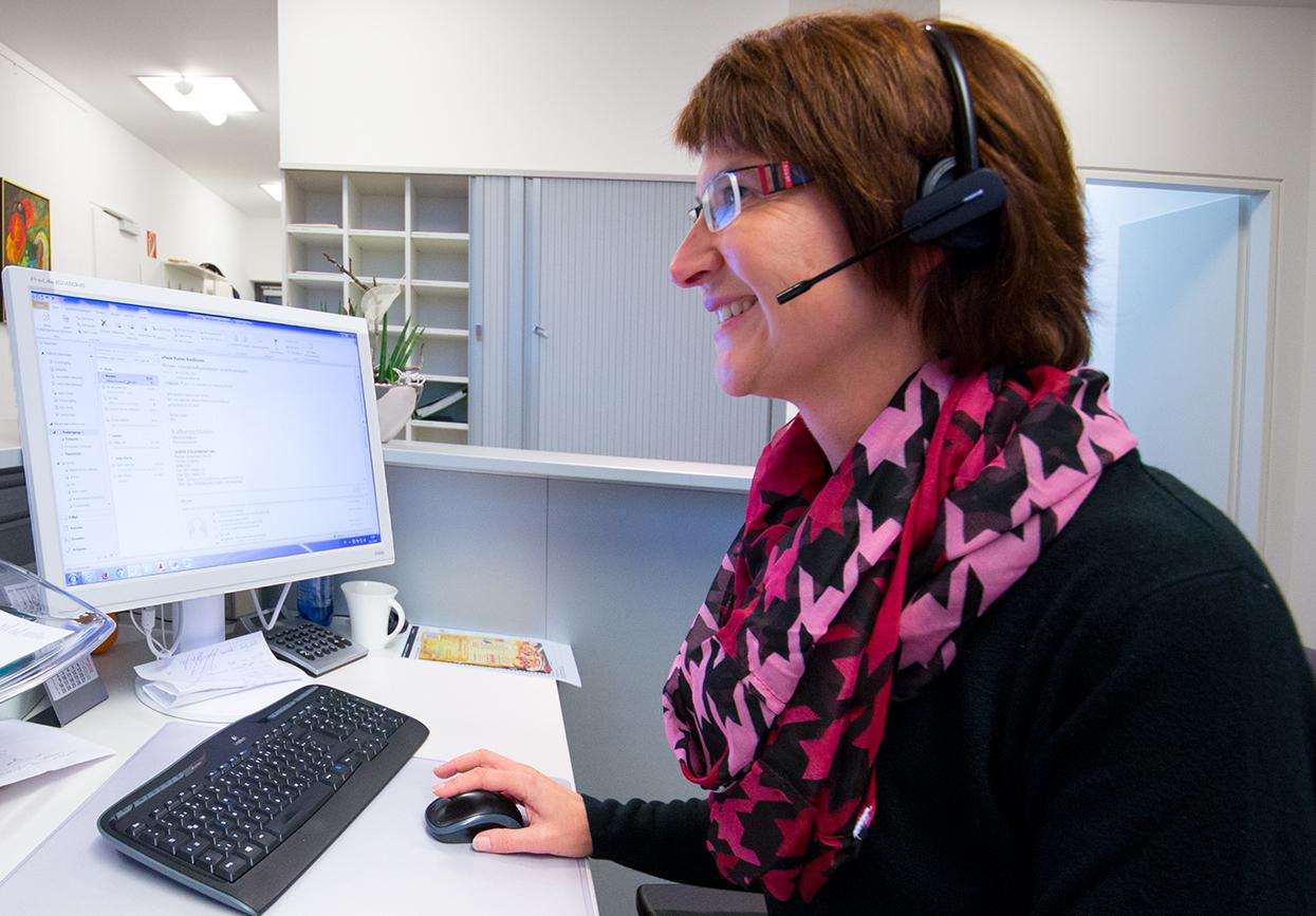 Telefonservice für AnwälteFrau Schulte Desk